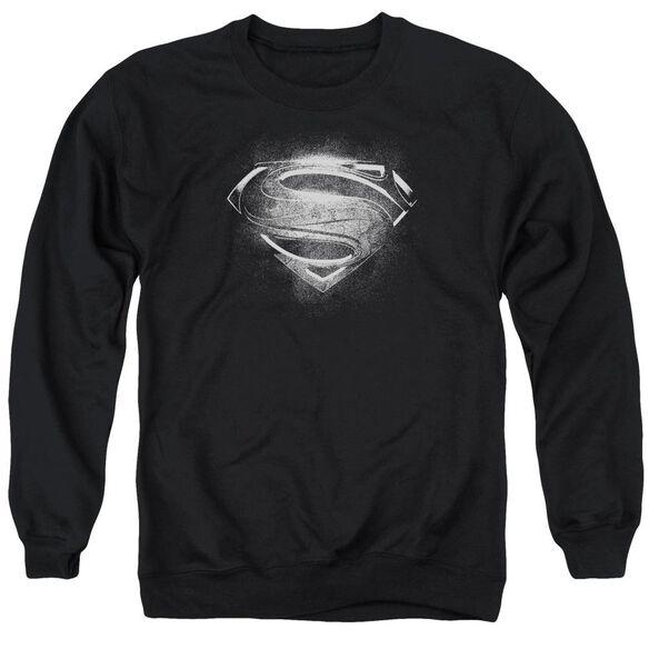 Man Of Steel Contrast Symbol Adult Crewneck Sweatshirt