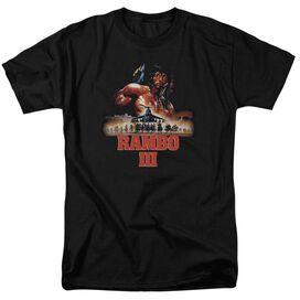 Rambo Iii French Poster Short Sleeve Adult Black T-Shirt