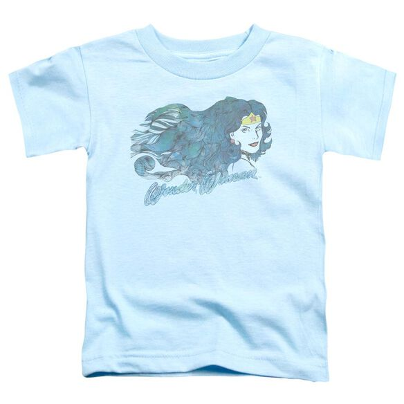 Jla Watercolor Hair Short Sleeve Toddler Tee Light Blue Lg T-Shirt