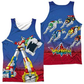 Voltron Form Voltron (Front Back Print) Adult 100% Poly Tank Top