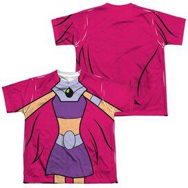 Teen Titans Go Starfire Uniform (Front Back Print) Short Sleeve Youth Poly Crew T-Shirt