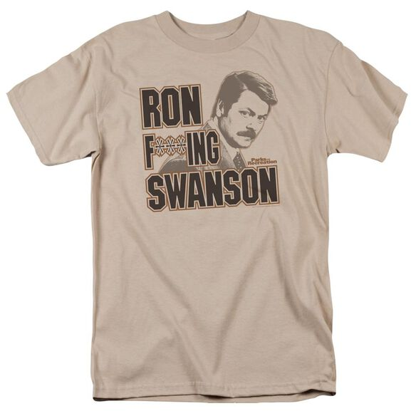 Parks And Rec Ron F***Ing Swanson Short Sleeve Adult Sand T-Shirt