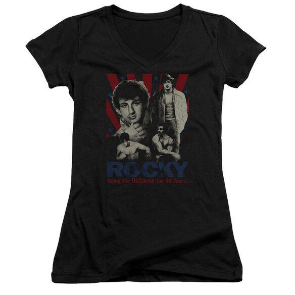 Rocky Going The Distance Junior V Neck T-Shirt
