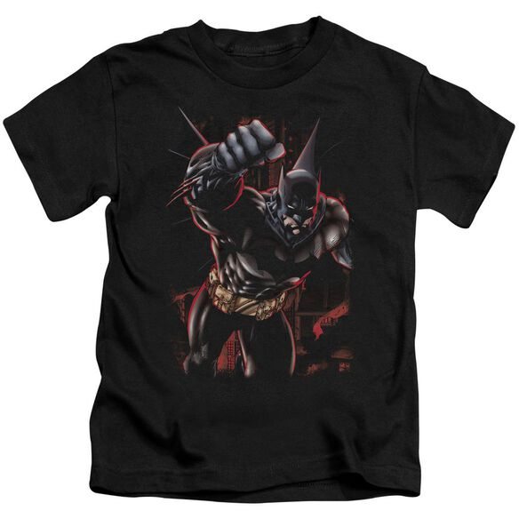 Batman Crimson Knight Short Sleeve Juvenile Black T-Shirt