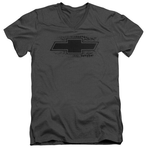 Chevrolet Bowtie Burnout Short Sleeve Adult V Neck T-Shirt