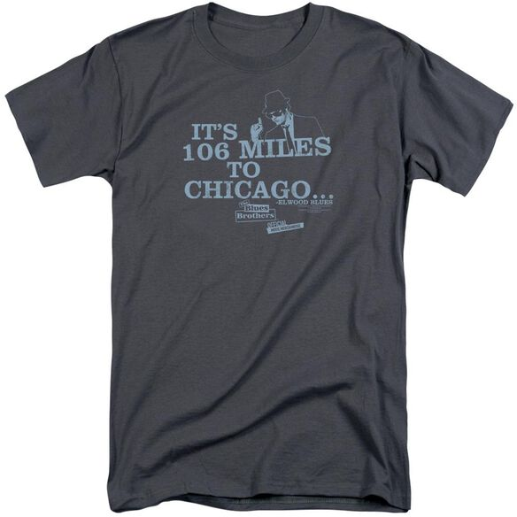 Blues Brothers Chicago Short Sleeve Adult Tall T-Shirt