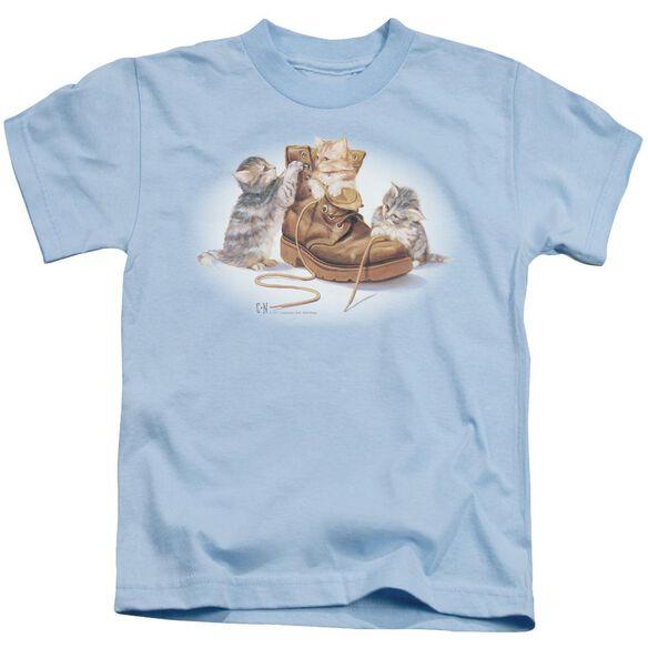 Wildlife Playful Kittens Short Sleeve Juvenile Light T-Shirt
