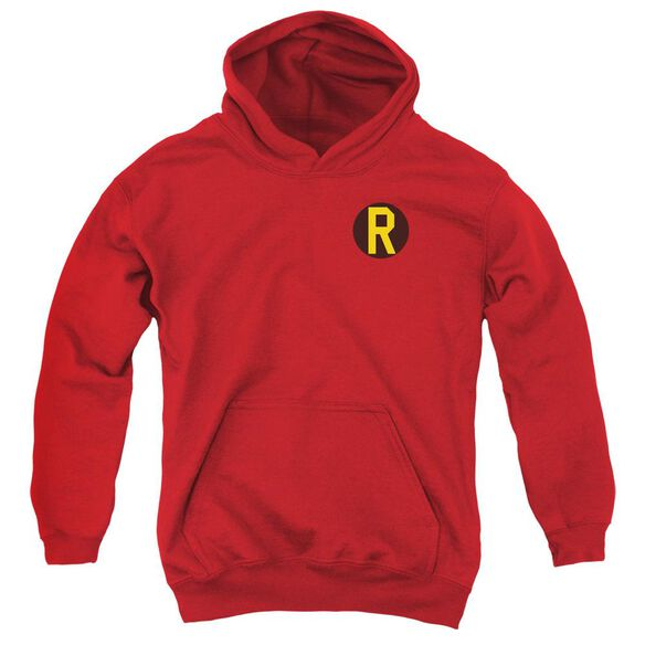 Dc Robin Logo Youth Pull Over Hoodie