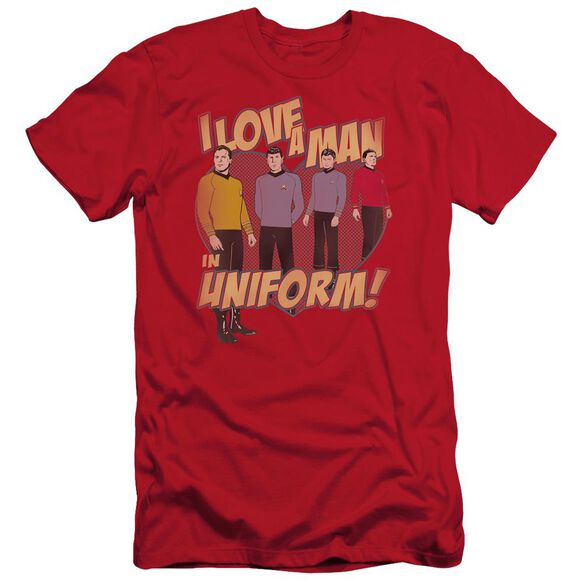 Star Trek Man In Uniform Short Sleeve Adult T-Shirt