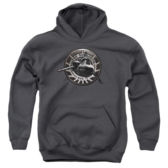 Bsg Viper Squadron Youth Pull Over Hoodie