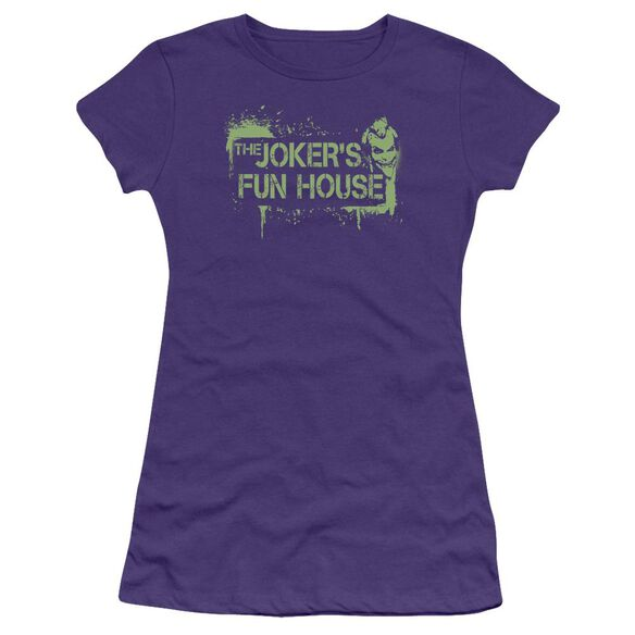 Arkham City Joker's Fun House Short Sleeve Junior Sheer T-Shirt