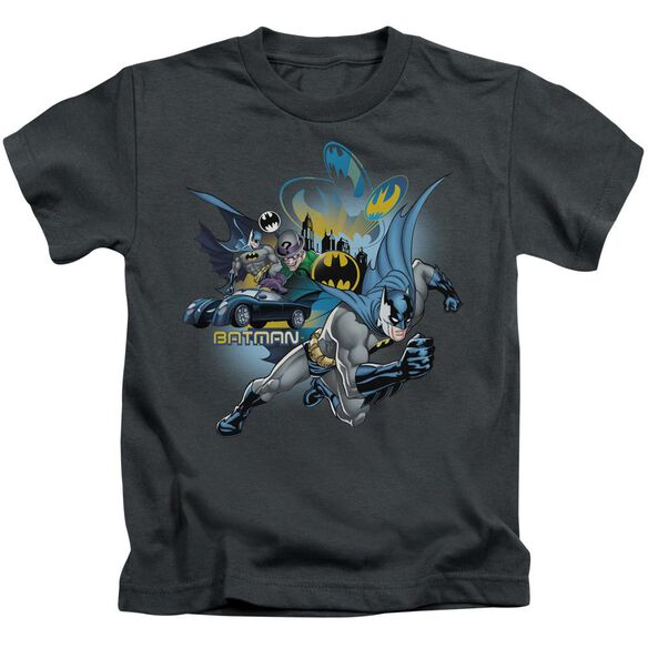 Batman Call Of Duty Short Sleeve Juvenile Charcoal T-Shirt