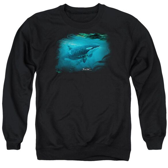 Wildlife Pursuit Thru The Kelp Orca Adult Crewneck Sweatshirt