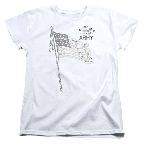 Army Tristar Short Sleeve Womens Tee White T-Shirt