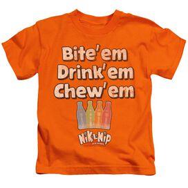 DUBBLE BUBBLE BITE DRINK CHEW - S/S JUVENILE 18/1 - ORANGE - T-Shirt