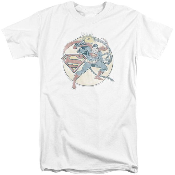 Dco Retro Superman Iron On Short Sleeve Adult Tall T-Shirt