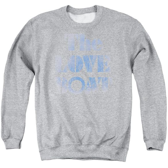 Love Boat Distressed Adult Crewneck Sweatshirt Athletic