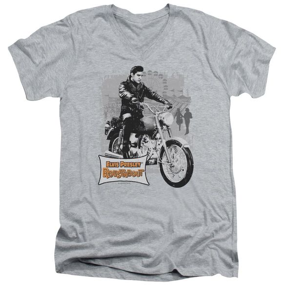 Elvis Roustabout Poster Short Sleeve Adult V Neck Athletic T-Shirt