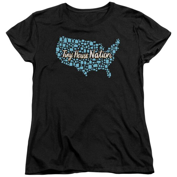 Tiny House Nation Nation Of Houses Short Sleeve Womens Tee T-Shirt
