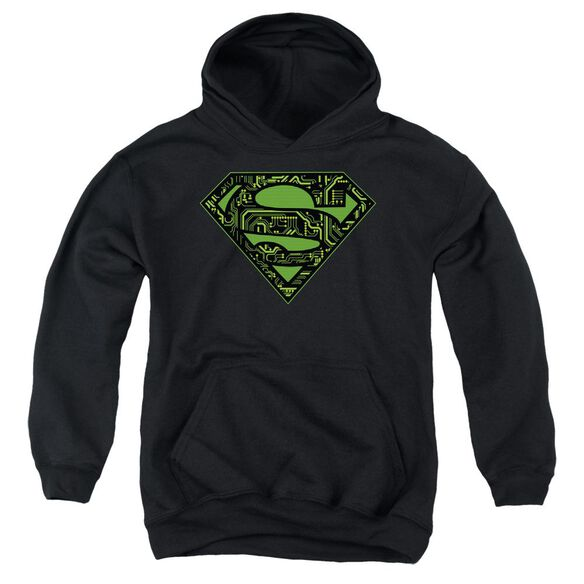 Superman Circuits Shield Youth Pull Over Hoodie
