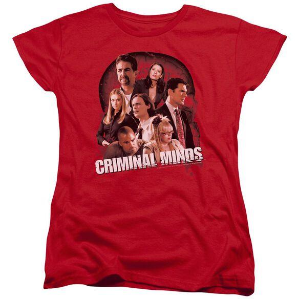 Criminal Minds Brain Trust Short Sleeve Womens Tee T-Shirt