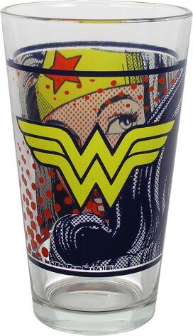 Wonder Woman Pop Art Pint Glass