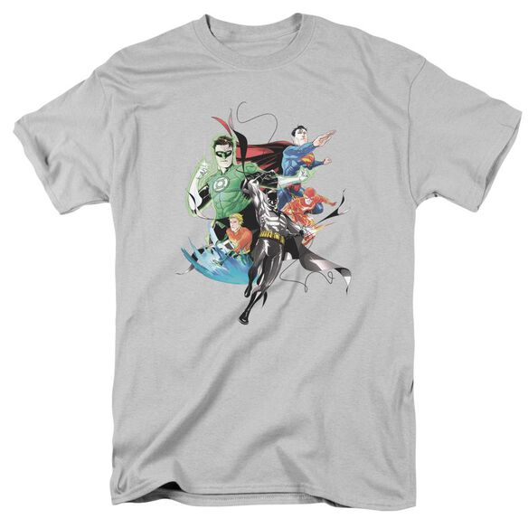 Jla Mashup Short Sleeve Adult T-Shirt