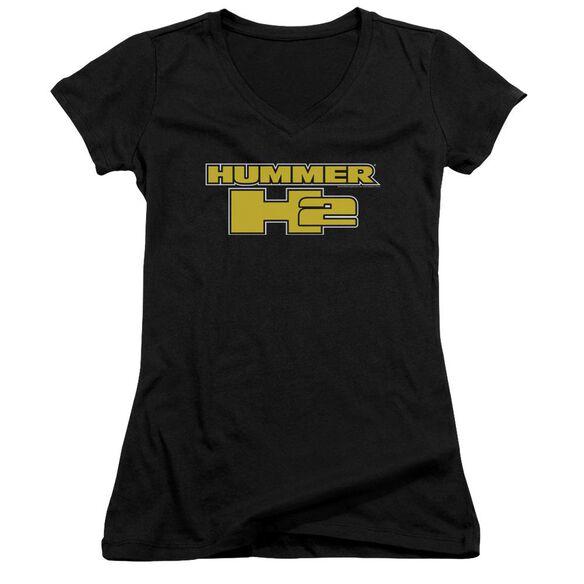 Hummer H2 Block Logo Junior V Neck T-Shirt