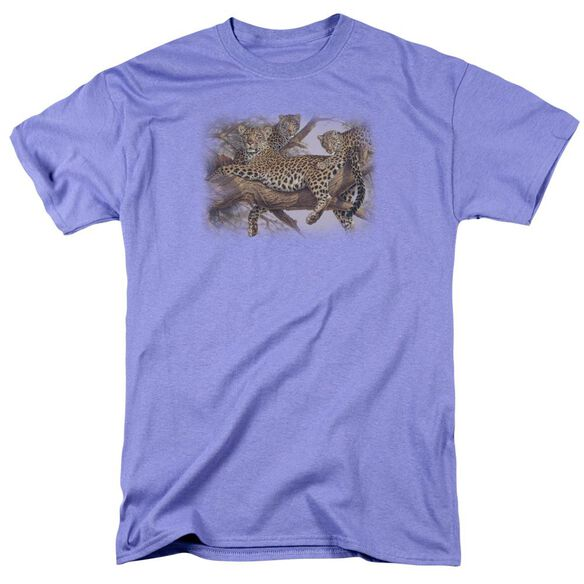 Wildlife The Family Tree Short Sleeve Adult Lavendar T-Shirt
