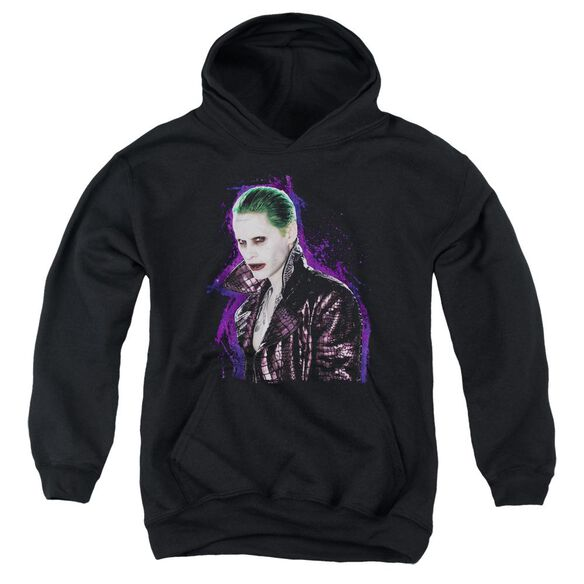 Suicide Squad Joker Stare Youth Pull Over Hoodie
