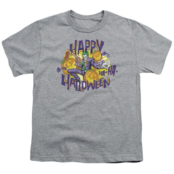 Batman Ha Ha Halloween Short Sleeve Youth Athletic T-Shirt