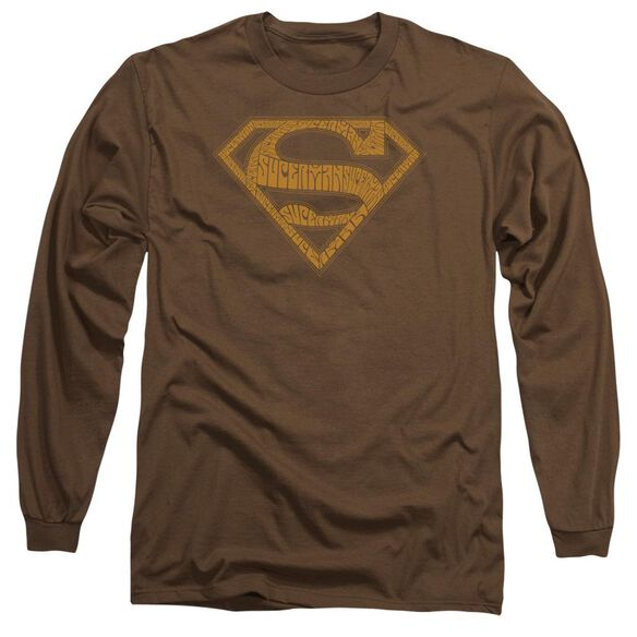 Superman 60 S Type Shield Long Sleeve Adult T-Shirt
