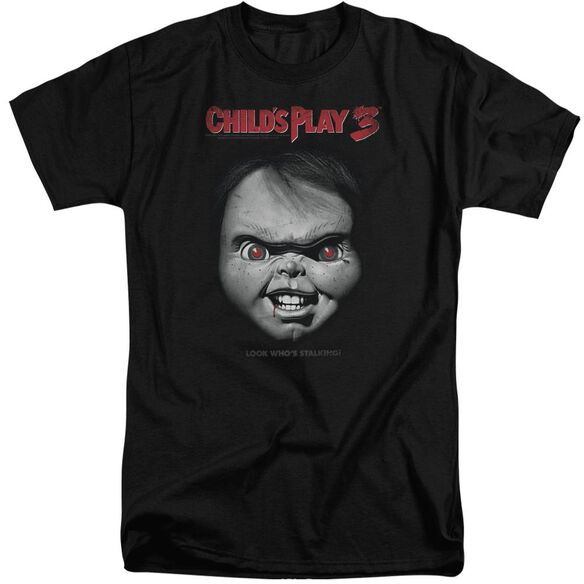 Childs Play 3 Face Poster Short Sleeve Adult Tall T-Shirt