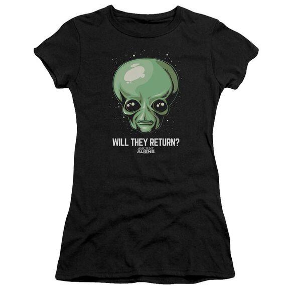 Ancient Aliens Will They Return Short Sleeve Junior Sheer T-Shirt