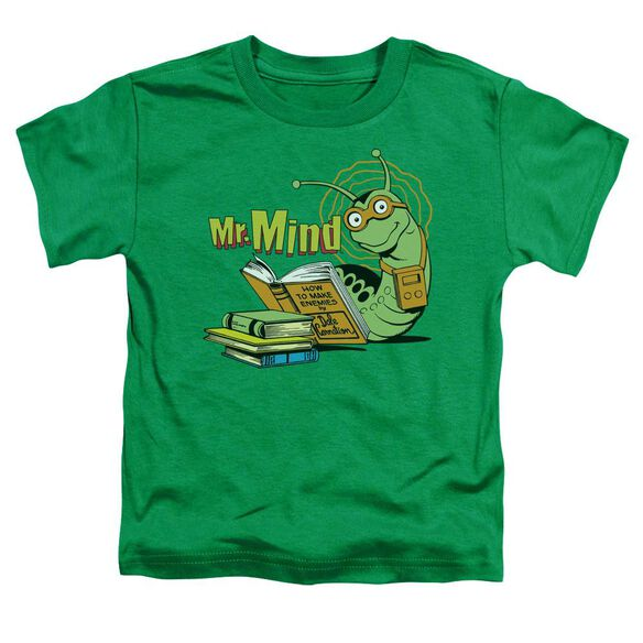Dc Mr Mind Short Sleeve Toddler Tee Kelly Green T-Shirt