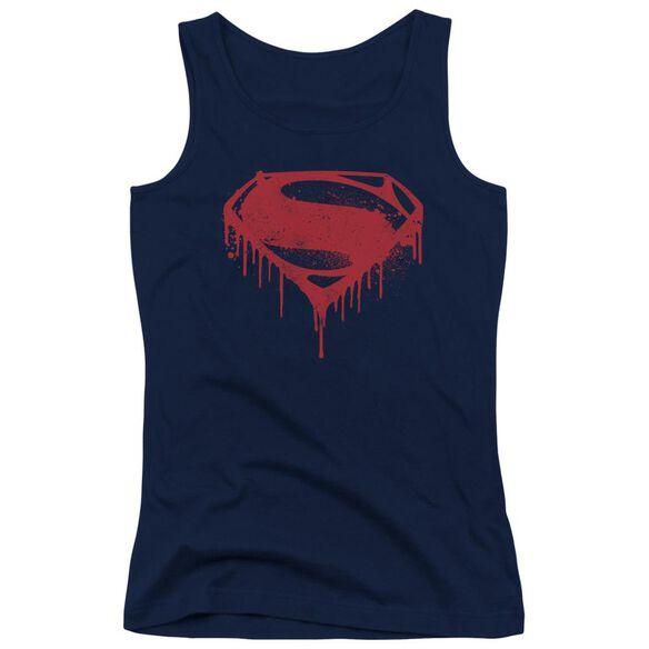 Batman V Superman Splattered Juniors Tank Top