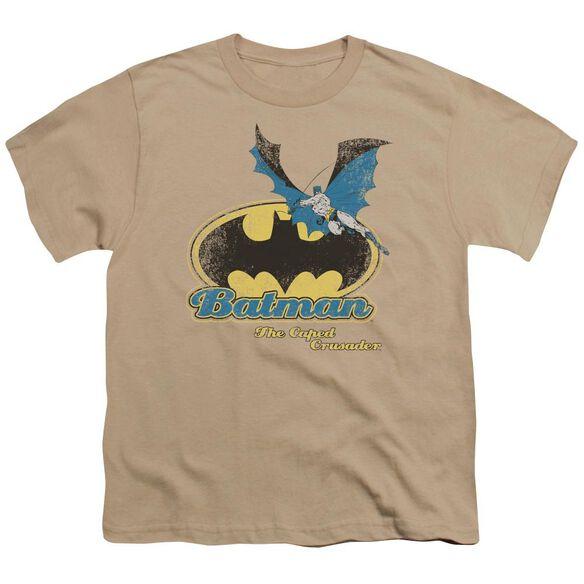 Batman Caped Crusader Retro Short Sleeve Youth T-Shirt