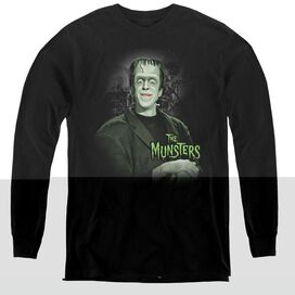 THE MUNSTERS MAN OF THE HOUSE - YOUTH LONG SLEEVE TEE - BLACK