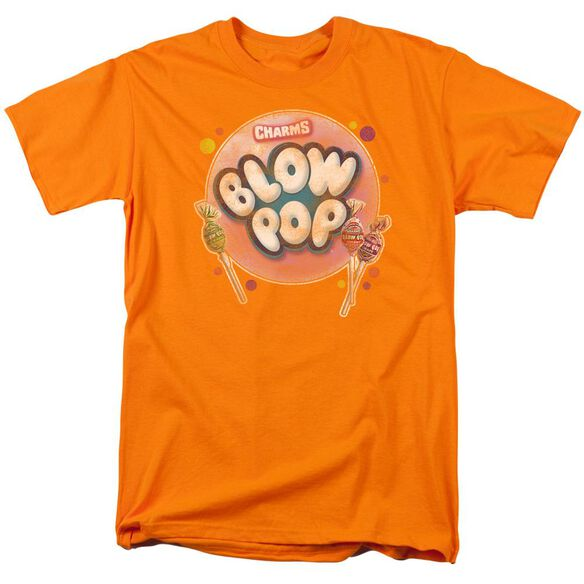 Tootsie Roll Blow Pop Bubble Short Sleeve Adult Orange T-Shirt