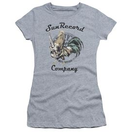 Sun Rockin Rooster Logo Short Sleeve Junior Sheer Athletic T-Shirt