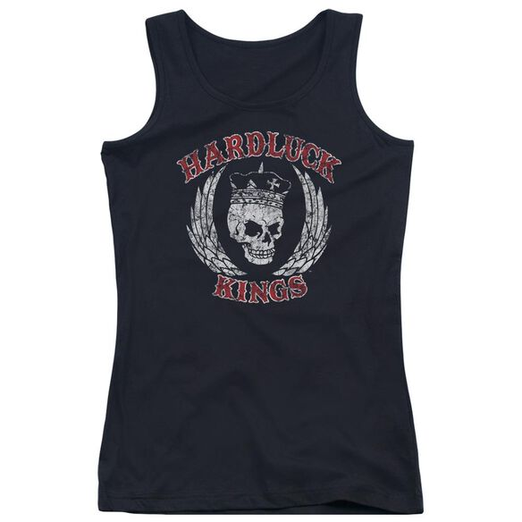 Hardluck Kings Red Letter Distressed Juniors Tank Top