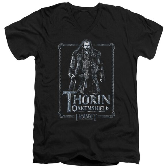 The Hobbit Thorin Stare Short Sleeve Adult V Neck T-Shirt
