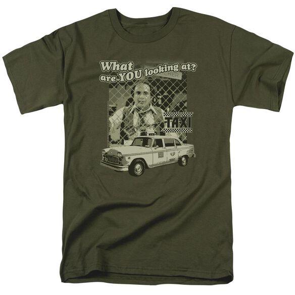 Taxi Whats A Matta Short Sleeve Adult Military Green T-Shirt