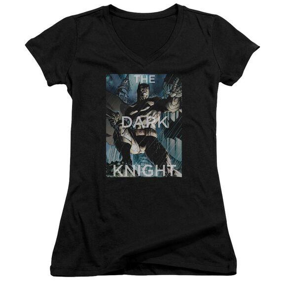 Batman Fighting The Storm Junior V Neck T-Shirt