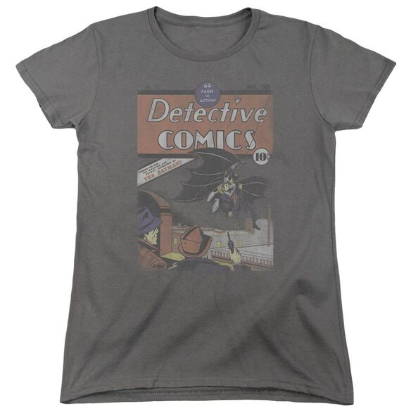 Dc Detective #27 Distressed Short Sleeve Womens Tee T-Shirt