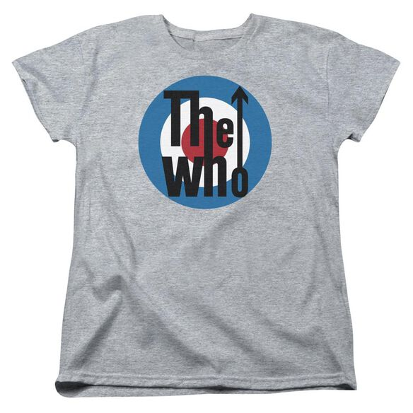 The Who Logo Short Sleeve Women's Tee Athletic T-Shirt