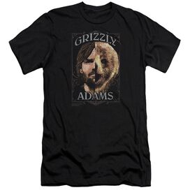 Grizzly Adams Half Bear Premuim Canvas Adult Slim Fit