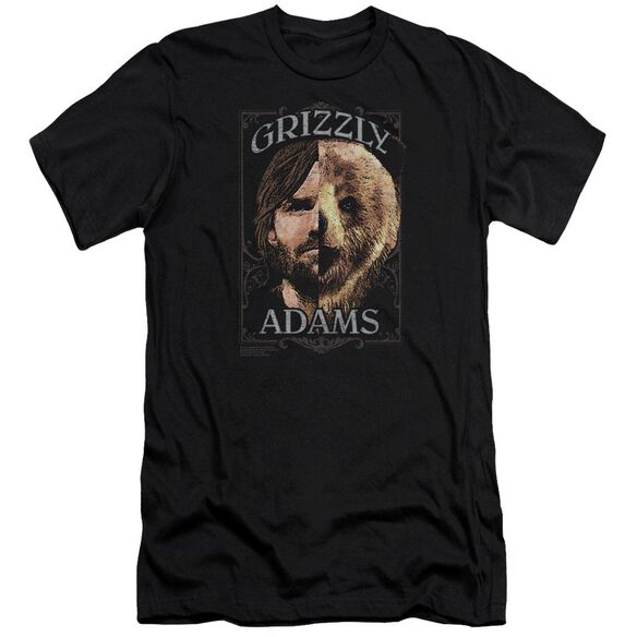 Grizzly Adams Half Bear Premuim Canvas Adult Slim Fit