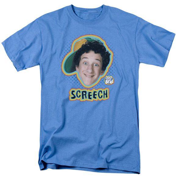 Saved By The Bell Screech Short Sleeve Adult Carolina Blue T-Shirt