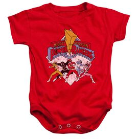 Power Rangers Retro Rangers Infant Snapsuit Red